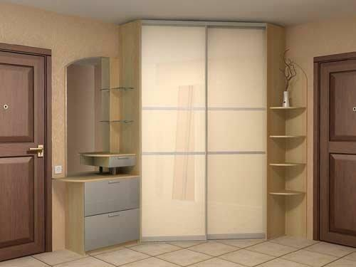 An indispensable element of the modern hallway is a stylish built-in wardrobe