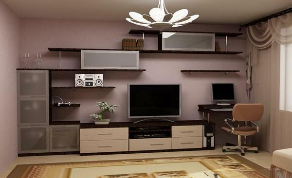 The main advantage of prefabricated living room furniture is its simplicity and ease of use