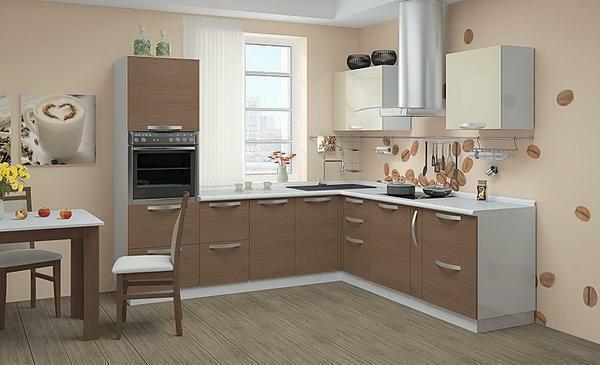 The right combination of wallpaper and furniture in the kitchen will give peace and comfort