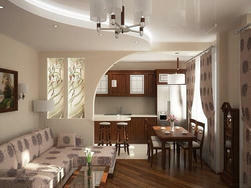 Interior design of the kitchen, combined with the living room, requires a special approach and thoughtful solutions