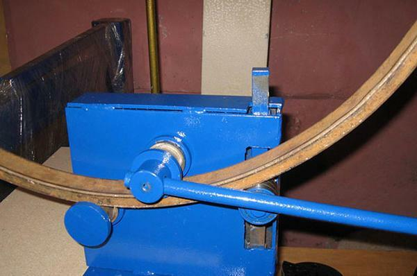 Make a bending machine for the profile pipe can be hand-made