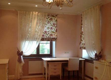 Roman blinds are well suited for a children