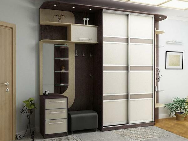 For a large hallway you can pick up a beautiful wardrobe with hangers