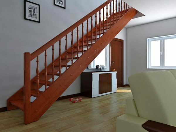 Stairway takes a lot of space, but it is more convenient and safe to use