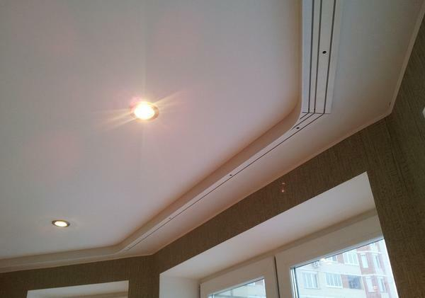 Before installing the cornice to the tension ceiling, it