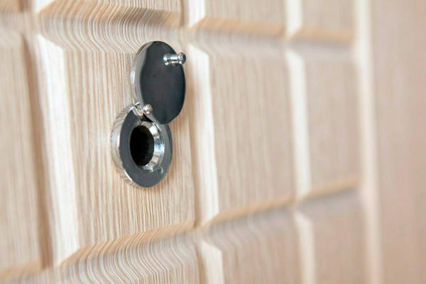 By installing a peephole in the door, you will be able to control the situation at the entrance to the house or apartment