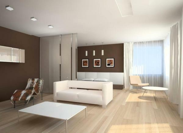 For a combined living room and bedroom is best to use the minimalism style