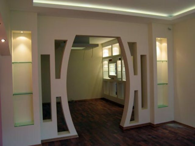 Decorative plasterboard partitions: video-installation instructions with their hands, examples of design in the interior of the room, price, photo