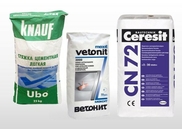 Dry mixtures for floor screed