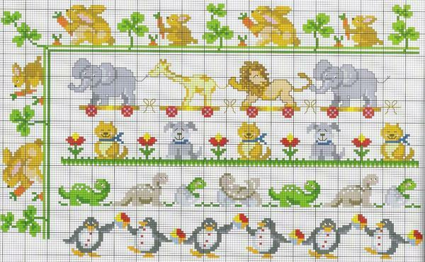 Embroidery with animals or cartoon characters is well suited for a children