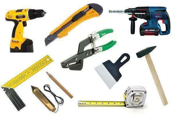 Before proceeding with the installation of drywall, it is necessary to purchase tools and materials that may be needed during the repair work