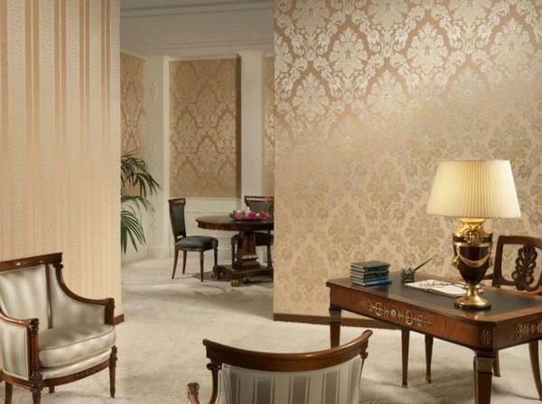 Wallpaper beige shades are perfect for living room, bedroom or hallway