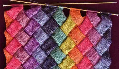 Knitting in the patchwork style is a popular and accessible kind of needlework for beginners