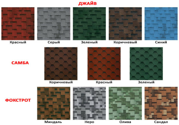 "Bitumen roof ""Shinglas"" can have different colors, which will satisfy the most refined customer"