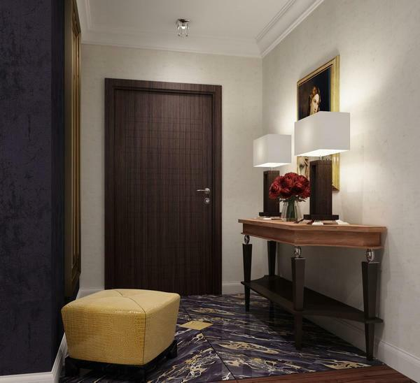 Corridor shape: hinged hallway, photo of the vestibule, open variants, apartment design, glazed design, models