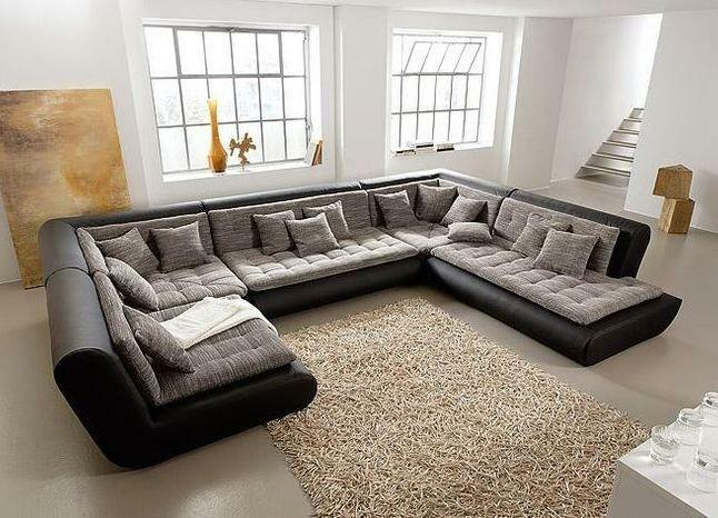 Modular sofas for a living room with a sleeping place: corner bedroom, a narrow bay window and a hall of a direct