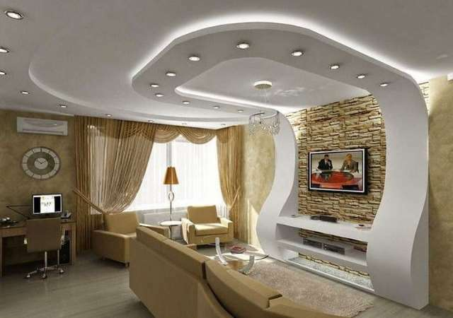 Hall of plasterboard in the hall: zoning of the living room with his hands, photo designs, interior decoration and painting