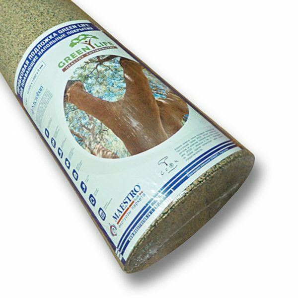 Cork substrate manufactured in rolls of 10 square meters