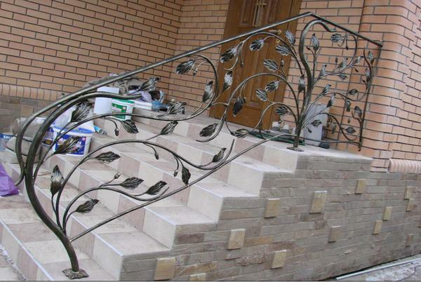 Forged handrails are very easy to care for