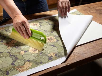 how to hang wallpaper on plywood
