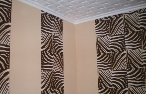 Pasting of walls different wallpaper