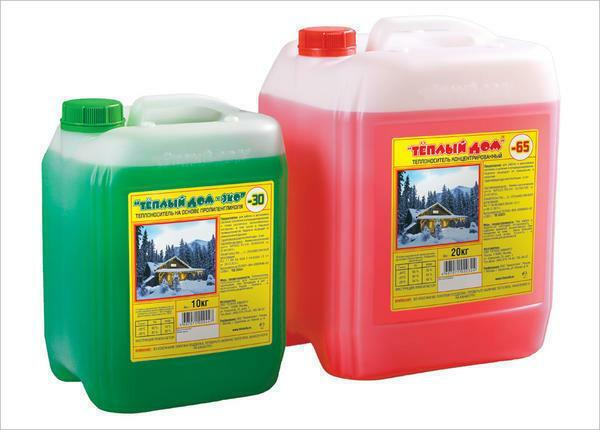 Heat carrier for the heating system of a country house: antifreeze and liquid that pour and what better to use
