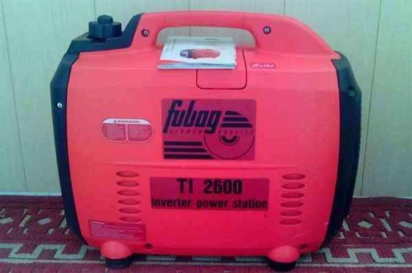 Fubag TI 2600 maximum power and other characteristics of gasoline generator, video and photos