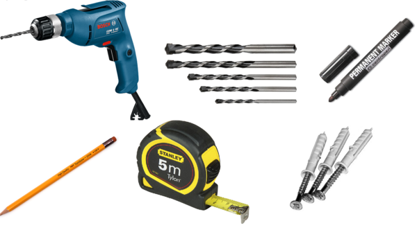 Before the installation of the ceiling cornice, it is necessary to prepare tools for work