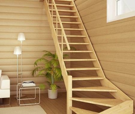 Among the advantages of a wooden staircase is the long service life and excellent aesthetic properties