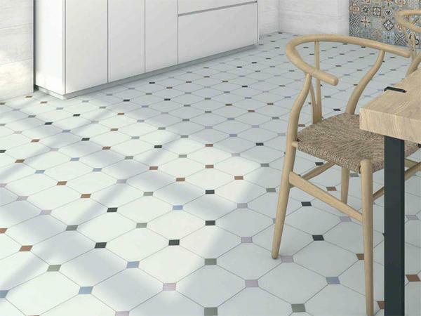 Tile patchwork: in style, floor and ceramic, Russian porcelain, photo