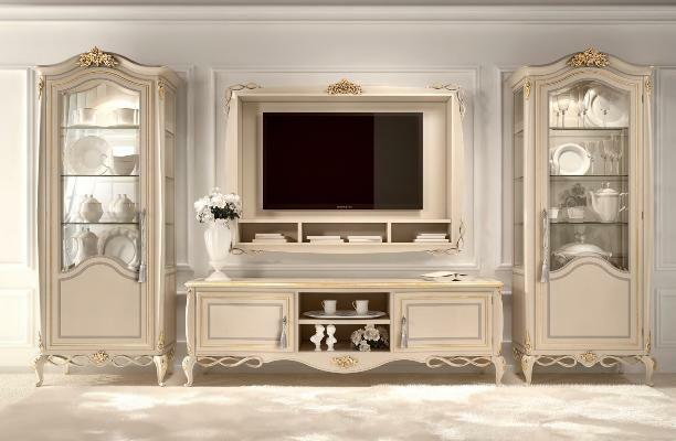 Living room furniture Italy: photo tables and chairs, classic soft, modern style chests and walls