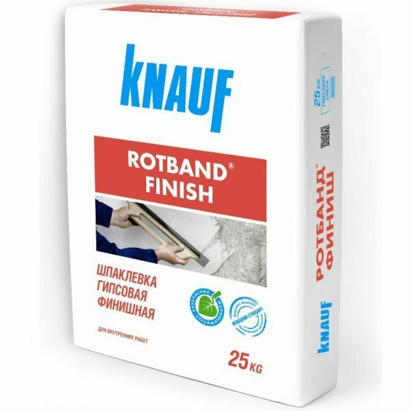 In the photo Rotband finish - modern finishing plaster with improved performance