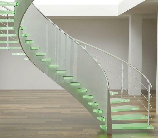 It is interesting in the modern interior will look like a frame glass staircase