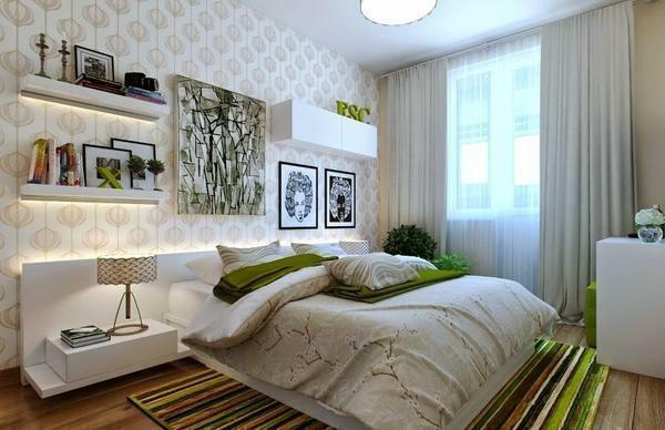 Modern bedroom design 10 sq. M: small photo, how to equip the interior of a nursery, a narrow project, an office
