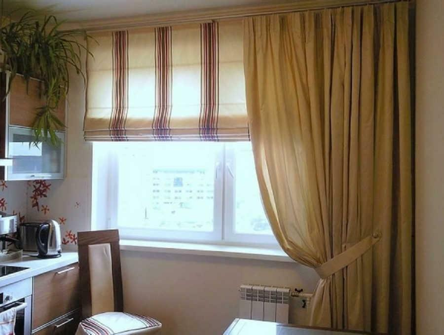 How to make a window in the kitchen with curtains photo: original cornices with your own hands, beautiful and interesting photo shoot