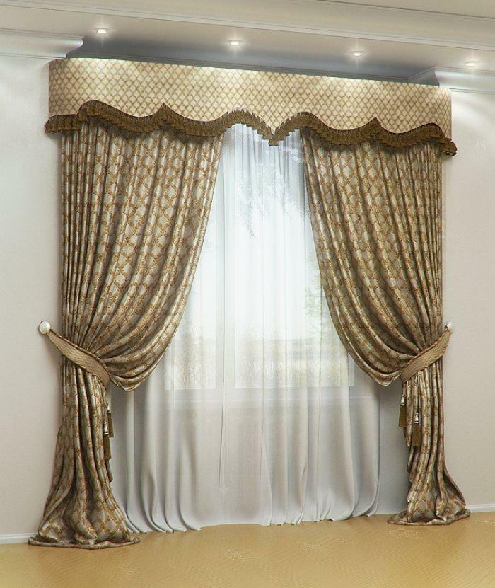 Classic curtains: in the style of the classic, photo in the interior, modern curtain rods for the hall, curtain design and curtains