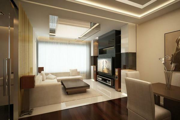 Repair of the living room: photo and real design, interior of the room, watch and make by yourself, a new apartment