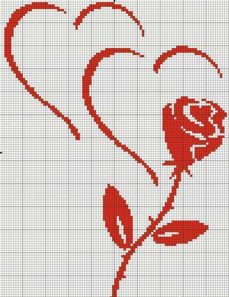 The easiest scheme for embroidering a rose is done in monochrome