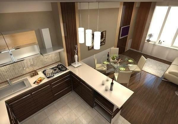 Kitchen interior design photo 2017 modern ideas: interior, fashionable combinations, novelties of the year