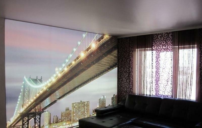 Wall suspended ceilings: to the wall mounting and low photos, how to make the mount, the adjacency needs to be leveled