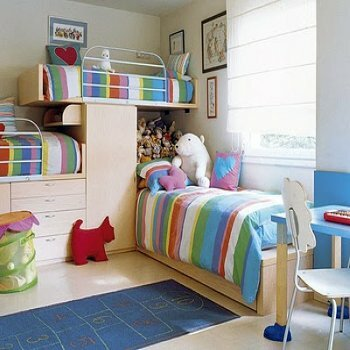 Interior design children's room for girls