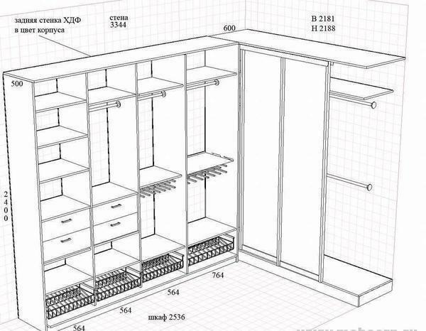 A well-designed drawing of the hallway will greatly facilitate the further processing process