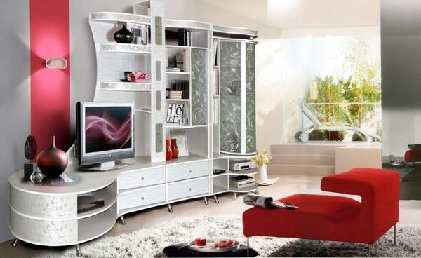 An excellent option for decorating the room is modular furniture