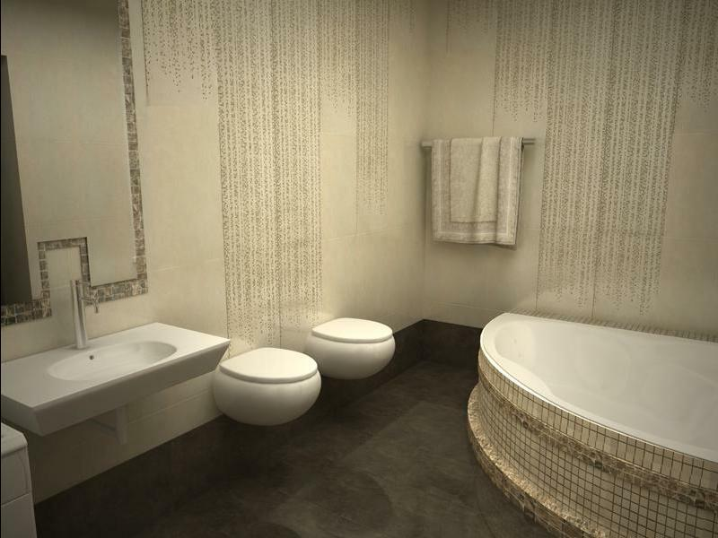 Design bathroom 6 square meters: the idea of ​​the interior ceiling and curtains in the style of Provence and modern