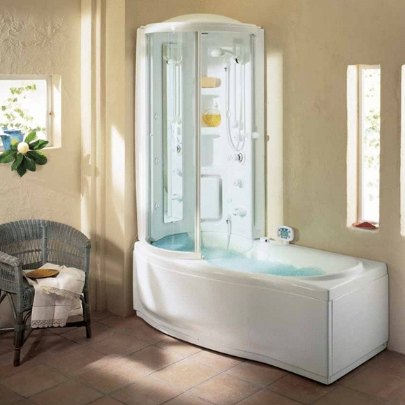 Combined bathtub with shower