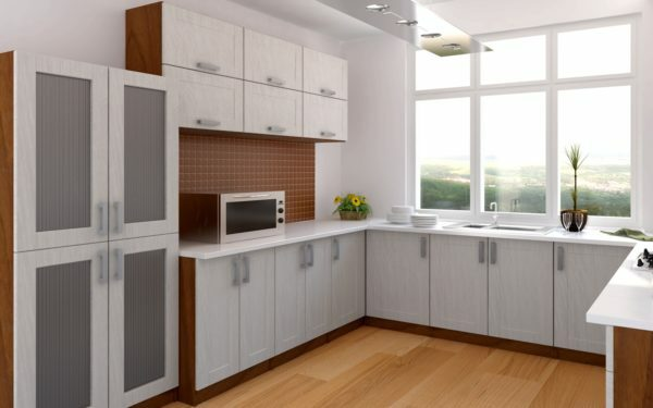 Kitchen furniture with corner placement - one of the most convenient