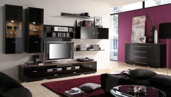 Living room furniture: high-quality photo, design room design, samples for large apartments,