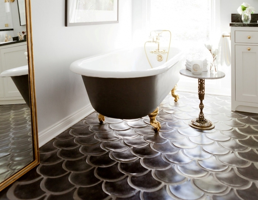 Tiles for the bathroom: design, photo and recommendations on the choice