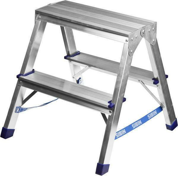 With a double-sided aluminum ladders, the steps on both sides increase the stiffness of the unit, which helps to work in pairs