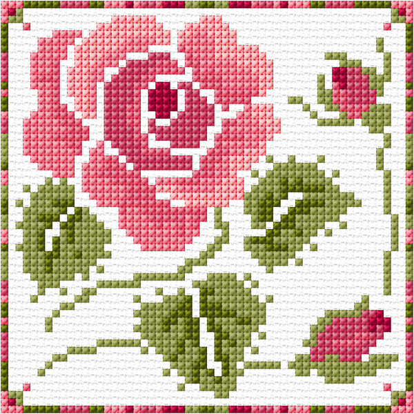 Cross-stitch embroidery roses scheme: free flowers, bouquet in a vase, download three in the dew, yellow tea rose, Bulgarian